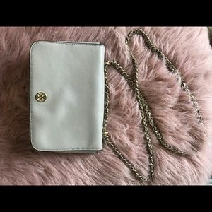 Tory Burch Women's Robinson Patent Chain Wallet